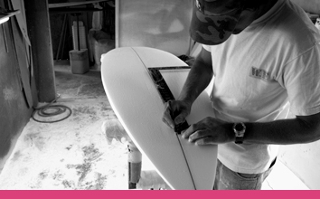 Image of W.E surfboard shaping